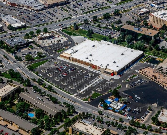 Denver Aerial Photography Target Hampden Denver Construction Progress